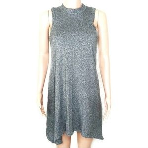Anthro Maeve Marled Grey Mock Neck Shift Dress